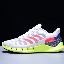 Adidas Climacool Hombre Zapatillas Running White Red Fluo Green