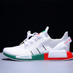 Adidas NMD_R1 V2 Boost 3M White Red Green Hombre Mujer Zapatillas Running Mesh FY1160