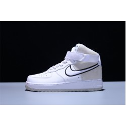 Nike Air Force 1 07 High WB Hombre Mujer Zapatillas White Vast Grey-Black Zapatos AO2442-100