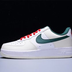 Nike Air Force 1 07 Low Hombre Mujer Zapatillas White Beige Green Red Zapatos FF0902-012