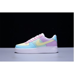 Nike Air Force 1 07 Shadow AF1 Low Hombre Mujer Zapatillas Yellow Purple Blue