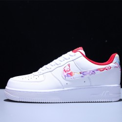 Nike Air Force 1 2020 Year of the Rat CNY AF1 Low Hombre Mujer Zapatillas White Red