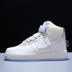 Nike Air Force 1 High Utility Hombre Mujer Zapatillas Unicorn Milk White Pink Zapatos CQ4810-111