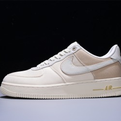 Nike Air Force 1 Low '07 Premium Hombre Mujer Zapatillas Pale Ivory Desert Ore Sail Light Cream Zapatos CI1116-100