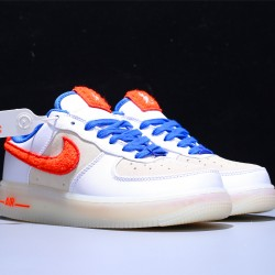 Nike Air Force 1 Low S Hombre Mujer Zapatillas White Orange Blue Zapatos 318988-100