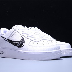 Nike Air Force 1 Low Sketch Pack Black Hombre Mujer Zapatillas White Black Zapatos CW7581-101