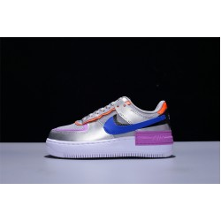 Nike Air Force 1 Shadow AF1 Low Silver Purple Mujer Zapatillas CW6030-001