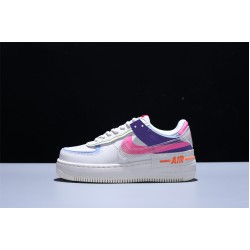 Nike Air Force 1 Shadow AF1 Mujer Zapatillas White Blue Purple