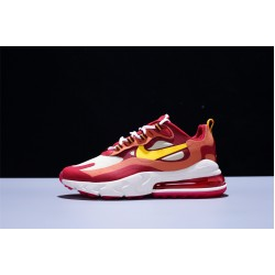 Nike Air Max 270 React Zapatillas Running Hombre  Mujer Red White Yellow