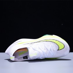 Nike Air Zoom Alphafly NEXT Mujer Zapatillas Running White Green