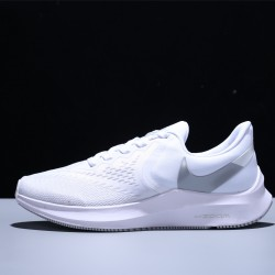 Nike Air Zoom Winflo 6 Mujer Zapatillas Running Mesh White Silver