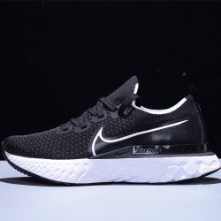 Nike Epic React Flyknit Hombre Mujer Zapatillas Running Black White