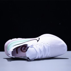 Nike Epic React Flyknit Hombre Mujer Zapatillas Running White Green
