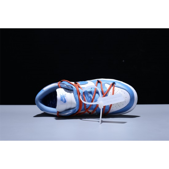 OFF White Nike SB Dunk Low Hombre Mujer Zapatillas Blue White