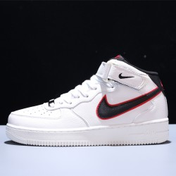 Stranger Things x Air Force 1 Mid 07 HH Hawkins High Hombre Mujer Zapatillas White Black Zapatos CJ6106-101