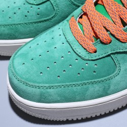 Stranger Things x Nike Air Force 1 07 MID Hombre Mujer Zapatillas Green Orange Zapatos AA1118-006