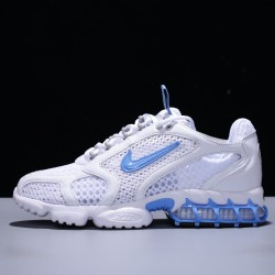 Stussy x Nike Air Zoom Spiridon Caged Hombre Mujer Zapatillas Running White Blue CD3613-100