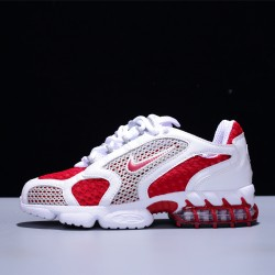 Stussy x Nike Air Zoom Spiridon Caged Hombre Mujer Zapatillas Running White Red CD3613-600