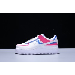 Nike Air Force 1 Shadow AF1 Low Mujer Zapatillas White Pink Blue